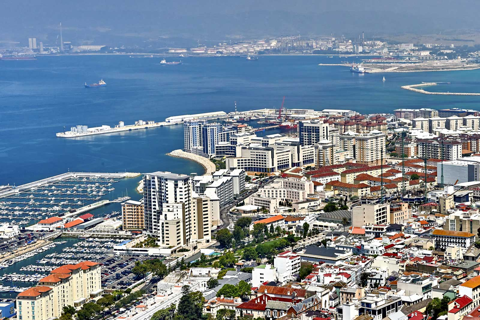 Aerial View of Gibraltar Image